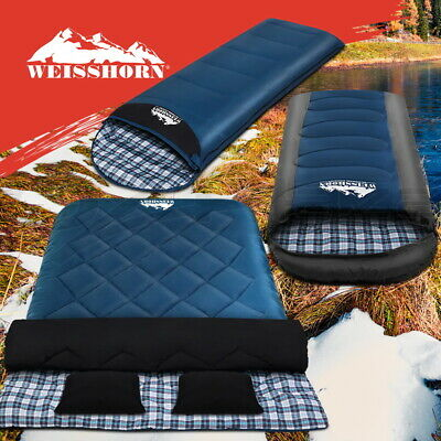 AU52.95 • Buy Weisshorn Sleeping Bag Bags Single Double Camping Hiking Tent Winter Summer