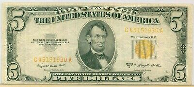 $ CDN127.53 • Buy $5 1953 B United States Note Five Dollars Yellow ( Red ? ) Seal Circulated Note