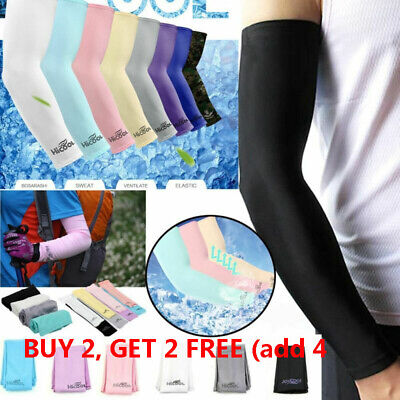 Cooling Arm Sleeves Cover UV Sun Protection Basketball Golf Athletic Sport 1Pair • 3.22£