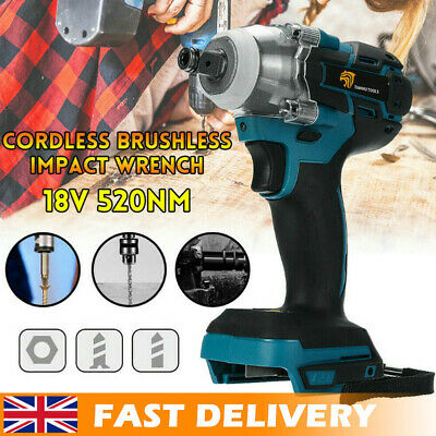 ❤️DTW285Z Torque Impact Wrench Brushless Cordless Replacement For Makita Battery • 33.49£
