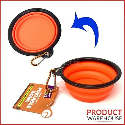 Collapsible Dog Bowl Folding Travel Pet Food Feeder Water Portable Dish Foldable • 2.69£
