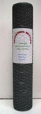SPECIAL OFFER 5 X 10m Rolls Of Chicken / Rabbit Wire Netting Hot Dip Galvanised • 55£