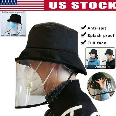 $7.19 • Buy Fisherman Cap + Protective Clear Saliva-proof Dust-proof Sun Visor Hat US Cap RX