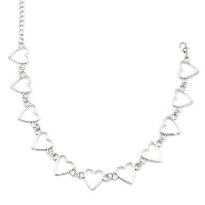 Stylist Heart Shape Necklace For Teens   Silver   Y2K And Indie Jewellery • 4£