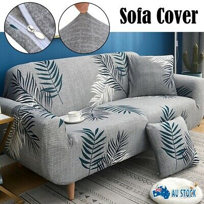 AU21.99 • Buy New 1/2/3/4 Seater Furniture Comfortable Floral Elastic Sofa Cover Stretch Couch