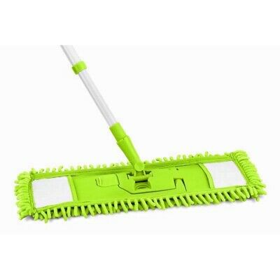 Microfibre Mop Extendable Floor Brush Telescopic Duster Cleaning Sweping Head Uk • 8.99£