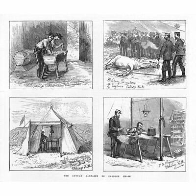 CANNOCK CHASE The Autumn Military Campaign - Antique Print 1873 • 11.95£