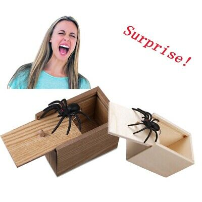 $6.99 • Buy Wooden Scare Box With Spider Hidden Prank Wood Scare Joke Trick Scary Toys Gift