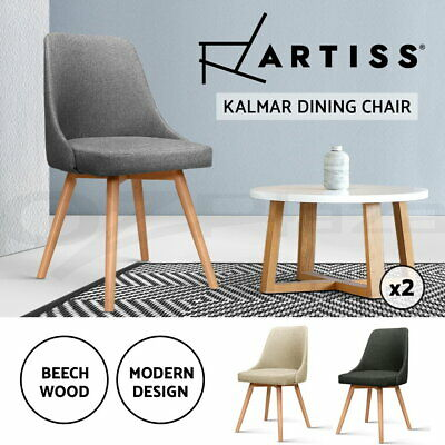 AU145.95 • Buy Artiss Dining Chairs Replica Wooden Kitchen Chair Cafe Modern Design Seat X2