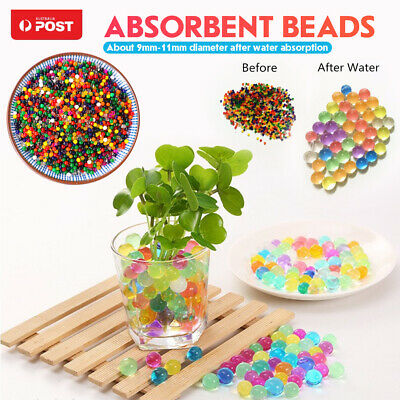AU8.93 • Buy 50000 Orbeez Crystal Soil Water Balls Jelly Gel Beads For Vase Home Wedding Gift