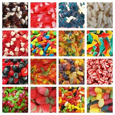 200g SWEET BAGS Pick N Mix RETRO Wedding Kids Wholesale Candy Sweet Shop Treat • 2.91£