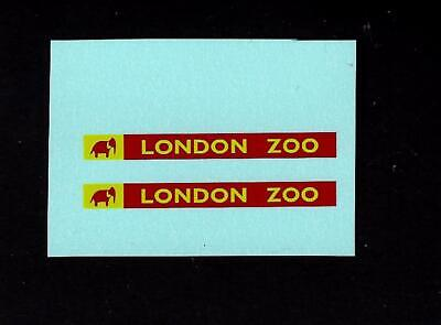 LONE STAR TUF-TOTS LONDON BUS - London Zoo TRANSFERS/DECALS • 2£