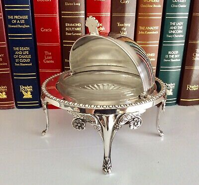 Superb Antique Chased Silver On Copper Roll Top Butter/Caviar Dish • 55£