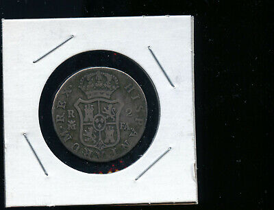 $ CDN28.10 • Buy Spain / 2 Reales 1806 Fa Crowned M (madrid) Carolus Iiii (charles Iv) Km#4 Dc603