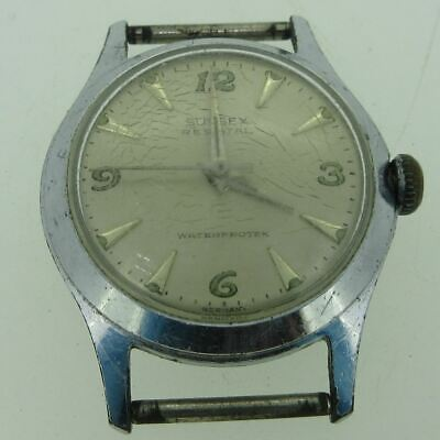 $ CDN36.61 • Buy Vintage Sussex TS/C 2433 17J Stainless Steel Watch Case Movement And Dial Parts