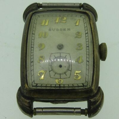 $ CDN38.67 • Buy Vintage Sussex 513 Swiss 17J Gold Plated Watch Case Movement And Dial Parts
