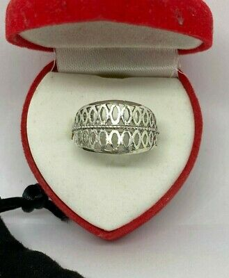 Solid Silver 925 Ladies Ring UK Handmade All Size Available+ Gift Box • 16.50£