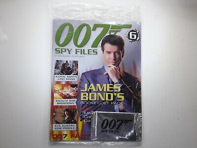 007 Spy Files James Bond Magazine Issue No:6 SEALED With Cards • 10£