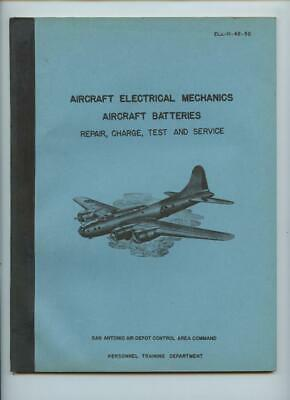 WWII Era Army Air Forces Book Aircraft Electrical Mechanics Battery Service Test • 22.46£