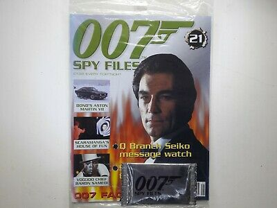 007 Spy Files James Bond Magazine Issue No:21 SEALED With Cards • 10£