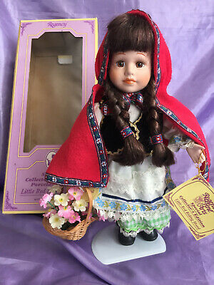 Regency Special Collector's Edition Porcelain Doll  Little Red Riding Hood' • 13£