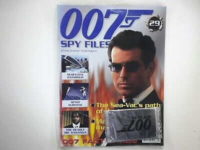 007 Spy Files James Bond Magazine Issue No:29 SEALED With Cards • 10£