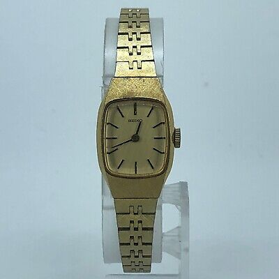 $ CDN25.39 • Buy SEIKO WOMENS WIND UP WATCH GOLD TONE VINTAGE CASE 14mm 11-5130