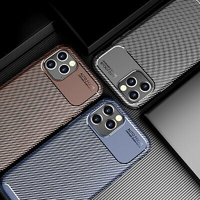 Luxury Carbon Fiber Protective Phone Case For IPhone 12, 12 MIni,12Pro Max Cover • 5.53£
