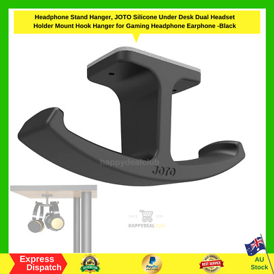 AU18.79 • Buy Headphone Stand Hanger JOTO Silicone Under Desk Dual Headset Holder Mount Hook