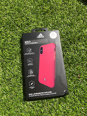 AU32.88 • Buy BN Adidas SOLO Red Dual Layer Protective Case Phone Cover For IPhone X