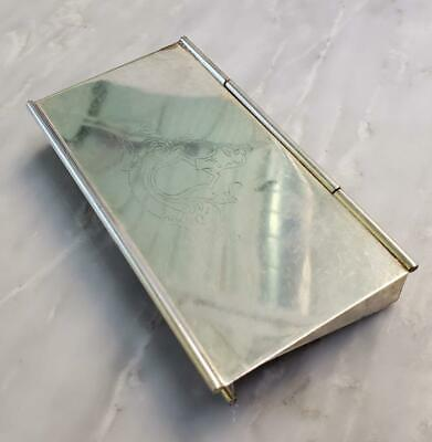 £107.51 • Buy Napier Sterling Silver Engraved Postage Stamp Box ~83.6 Grams~ 10-F8411
