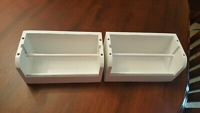 $10.95 • Buy Two Crafting Tape Wooden Box Holders White Stackable No Pins