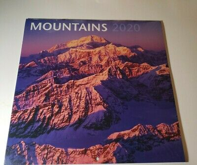 $5 • Buy 2020 Mountains Calendar Includes 2019 And 2021 4 Month Calendars