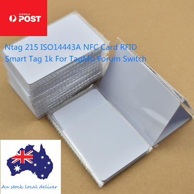 AU9.49 • Buy 10x NTAG215 NFC White Pvc Card Tag For TagMo Forum Switch Type2  Tags Chip