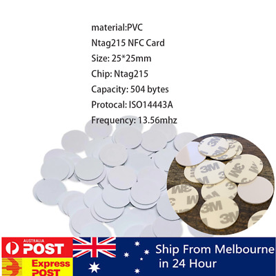 AU8.90 • Buy 10x NTAG215 NFC  Pvc Coin Card Tag For TagMo Forum Switch Type2 Tags Chip Amiibo