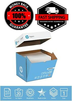 $39.99 • Buy HP Printer Office Paper 8.5x11 2500 Sheets 20 Lb Quickpack Case Ream White Copy