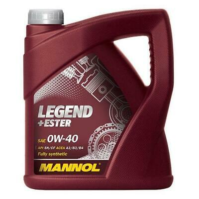 MANNOL Legend+Ester SAE 0W-40 API SN/CH-4 Fully Synthetic Engine Oil 5L • 39.50£