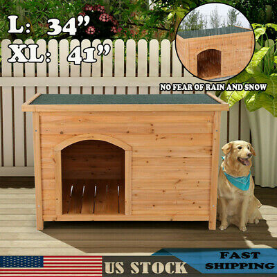 $112.76 • Buy Extra Large Outdoor Barn Dog House Wooden Big XL Dogs Puppy Pet Shelter Kennel G