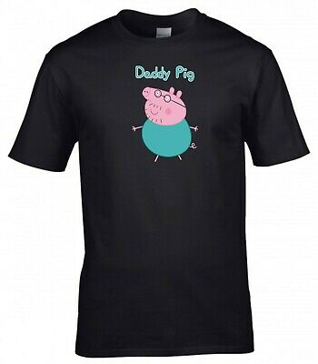 Father's Day T Shirt Daddy Pig Inspired Best Dad Papa Birthday Gift Men Tee Top • 9.99£
