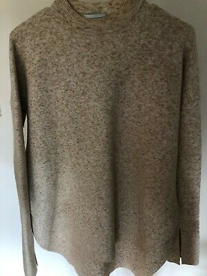 AU99 • Buy Scanlan Theodore Cream Crepe Knit Sweater Top Jumper Size S