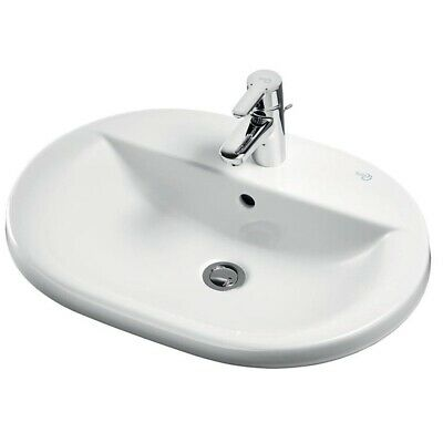Ideal Standard Concept Oval Countertop Basin 620mm Wide 1 Tap Hole • 192.95£