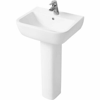 Ideal Standard Tempo Basin And Full Pedestal 550mm Wide 1 Tap Hole • 110.95£
