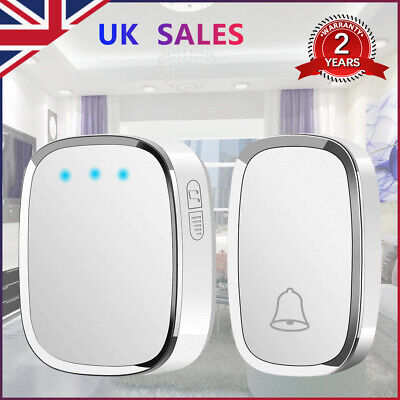 NEW Waterproof Wireless DoorBell Wall Plug-In Cordless Door Chime Kit 300M • 9.29£