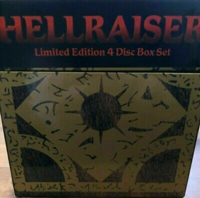 Hellraiser Puzzle Box (DVD, 2004, 4-Disc Set, Box Set) - New, Sealed • 49.99£