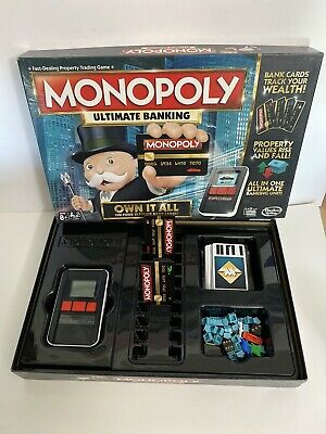 $17.34 • Buy Monopoly Hasbro Ultimate Banking Board Game Excellent Condition COMPLETE