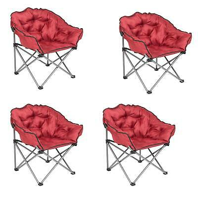 $327.99 • Buy Mac Sports Folding Padded Outdoor Club Chair With Carry Bag, Wine Red (4 Pack)