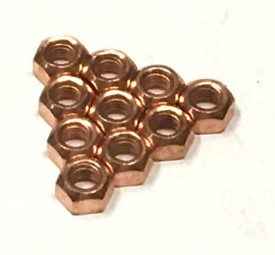 10x M10 Copper Flashed Exhaust Manifold 10mm Nut - High Temperature Nuts • 3.99£