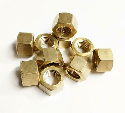£4.94 • Buy 10x Brass Imperial Exhaust Manifold Nut 7/16  UNF High Temperature Nuts
