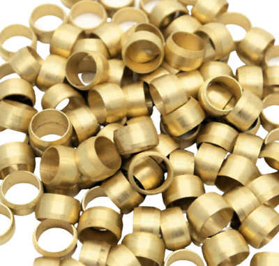 £3.90 • Buy 10 X 6mm Brass Olive Barrel Compression Fitting Copper Pipe Gas Engineer Plumber