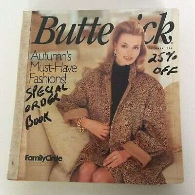 $39.99 • Buy Butterick Sewing Pattern Catalog October 1996 Big Store Counter Book 90s Fashion